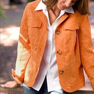 Cold water creek Orange detailed jacket